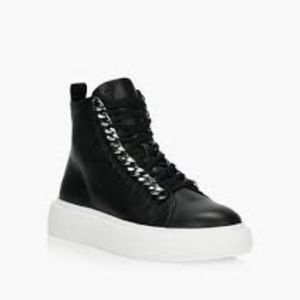 WISHBONE COLLECTION Ophelia leather high top shoes
